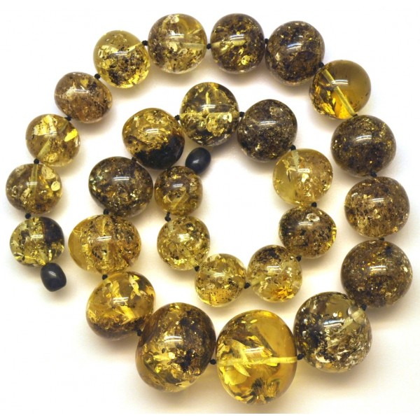 Amber necklaces | Baroque beads short Baltic amber necklace 100 g.