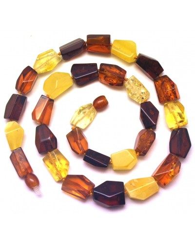 Faceted Baltic amber necklace