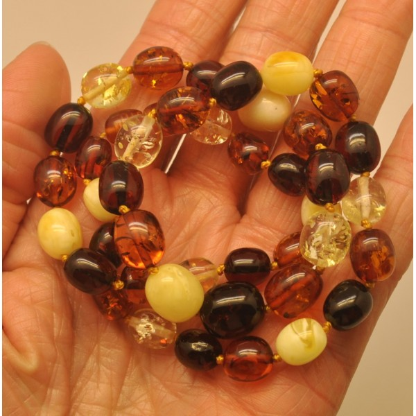 Amber necklaces | Olive shape amber necklace