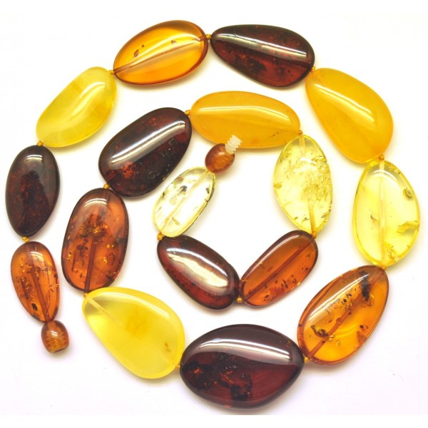 Big beads Baltic amber short necklace-AN1999