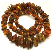 Real Antique long  Baltic amber necklace 107 g .