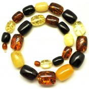 Massive Baltic amber necklace 68 g .