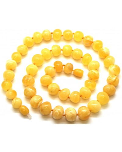 Yellow baroque beads  Baltic amber necklace