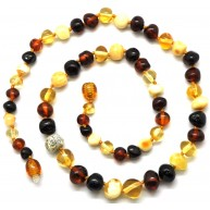 Baroque beads Baltic amber necklace