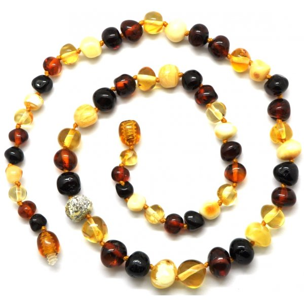 Baroque beads Baltic amber necklace-AN1713
