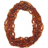 10 Baltic amber beans necklaces