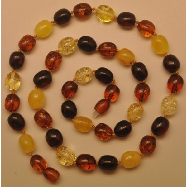 Olive Shape Amber Necklace From Online Baltic Amber