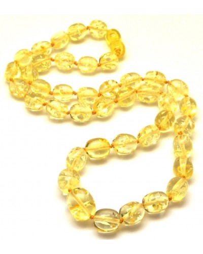Lemon Baltic amber olive necklace