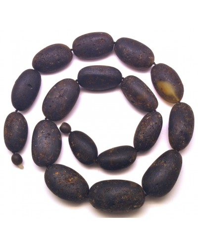 Big beads raw healing Baltic amber necklace