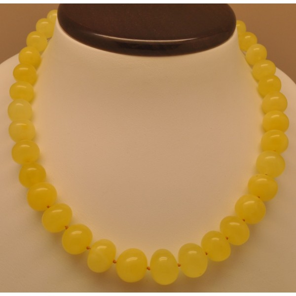 Amber necklaces | Natural yellow baroque beads amber necklace
