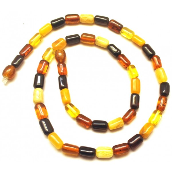 Amber necklaces | Barrel shape Baltic amber necklace
