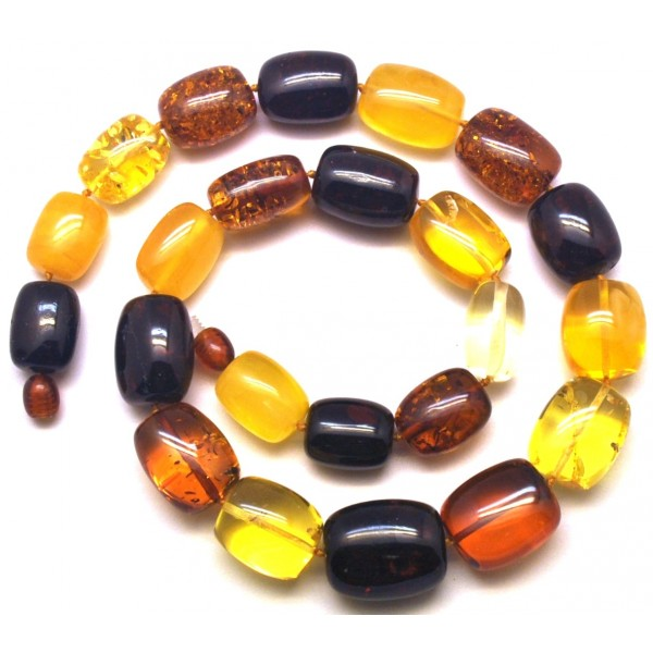 Barrel shape Baltic amber necklace 59 g .-AN2134