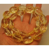 Lemon faceted Baltic amber beads necklace