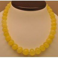 Natural yellow baroque beads amber necklace-AN2178