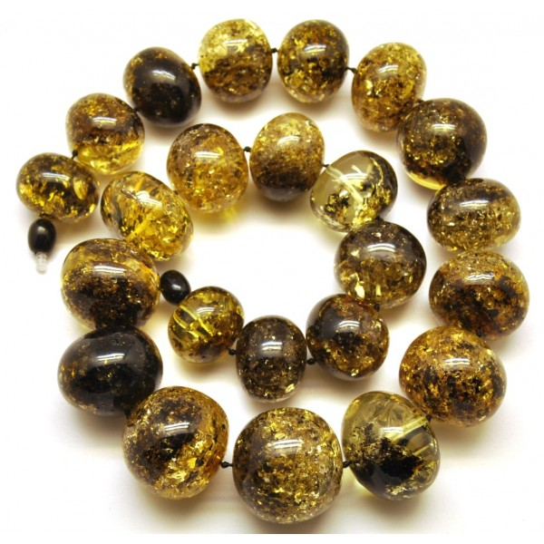 Amber necklaces | Baroque beads short Baltic amber necklace 130 g.