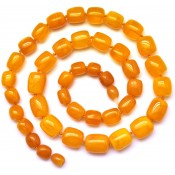 Antique color Baltic amber necklace