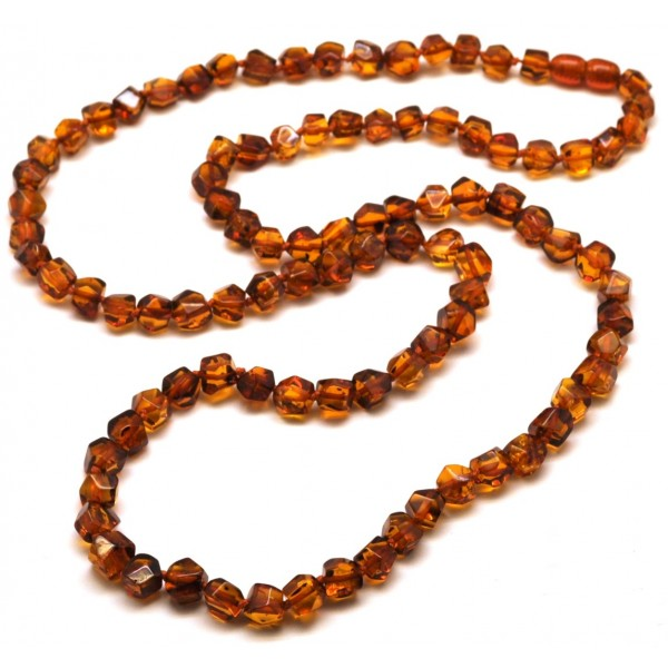 Long Faceted Baltic Amber Necklace From Online Baltic
