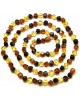 Amber necklaces | Long faceted Baltic amber necklace