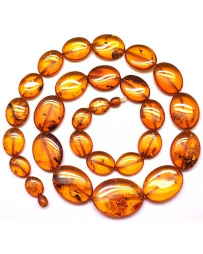 Cognac  Baltic amber long necklace