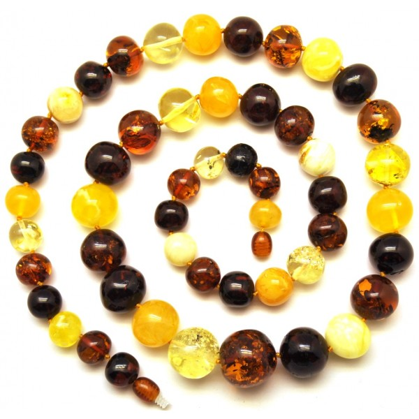 Amber necklaces | Baltic amber long baroque beads necklace