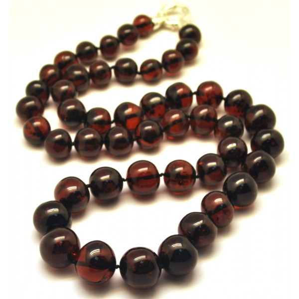 Amber necklaces | Long cherry baroque beads Baltic amber necklace
