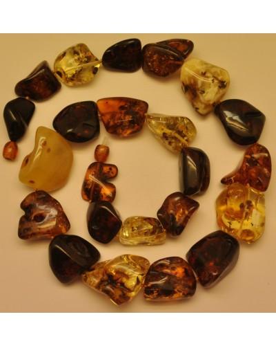 Natural shapes short Baltic amber necklace