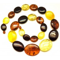 Baltic amber long necklace 90 g.-AN1883
