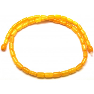 Barrel shape antique Baltic amber necklace