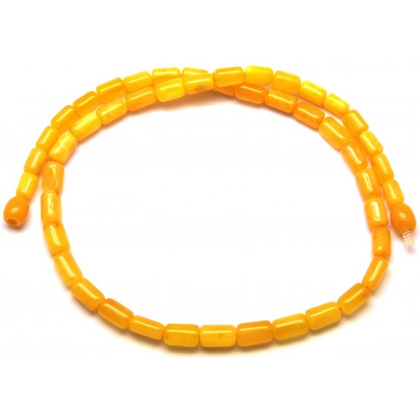 Barrel shape antique Baltic amber necklace-AN1850