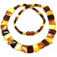 Multicolor Baltic amber choker-AN1784