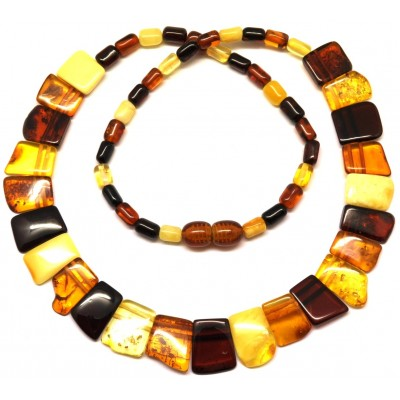 Multicolor Baltic amber choker-AN1784