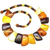 Multicolor Baltic amber choker-AN1905