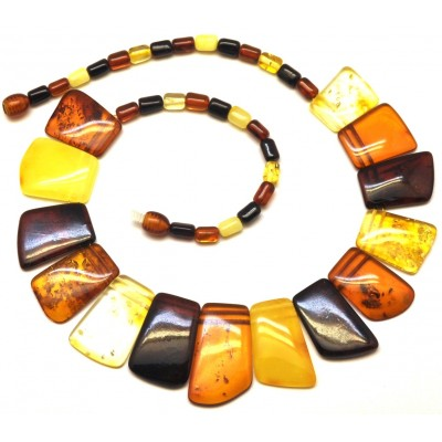 Multicolor Baltic amber choker-AN1905