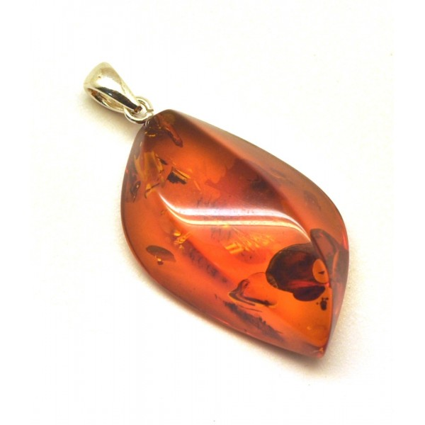 Amber pendants | Cognac color Baltic amber pendant
