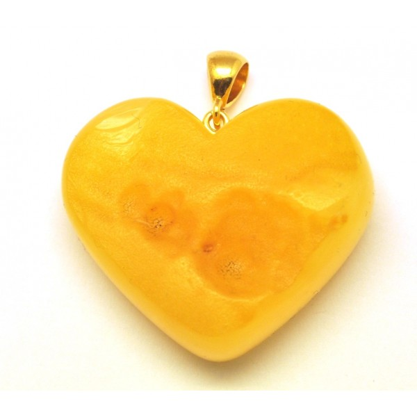 Amber pendants | Raw heart shape Baltic amber pendant