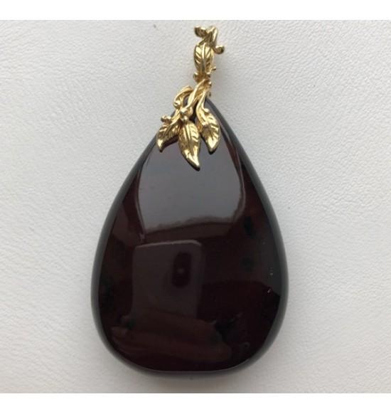Big amber drop pendant