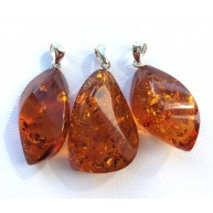 Lot of 3 Genuine BALTIC AMBER Pendants