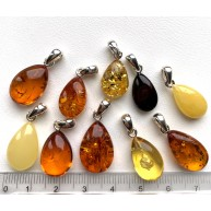 10 pcs Genuine BALTIC AMBER Drop Pendants