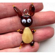 Genuine Amber Bunny Pendant for kids