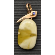 Baltic amber  pendant with 14 carat gold