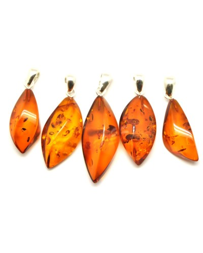 Lot of 5  Baltic amber pendants