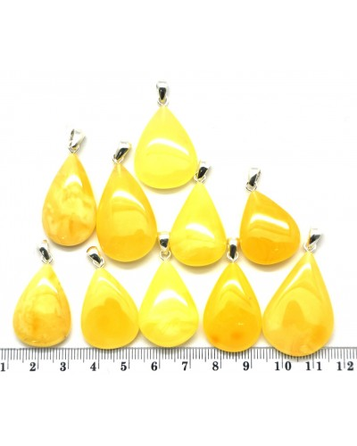 Lot of 10  Baltic amber drop pendants