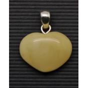 Small heart shape Baltic amber pendant