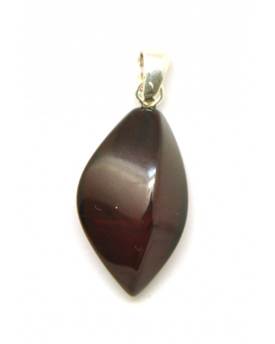 Cherry color Baltic amber pendant