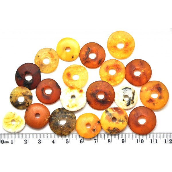 Amber pendants | Lot of 20 Baltic amber amulet pendants