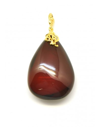 Big cherry Baltic amber drop pendant 14 g.