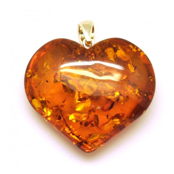 Cognac heart shape baltic amber pendant from online baltic amber amber pendants cognac heart shape baltic amber pendant aloadofball Images