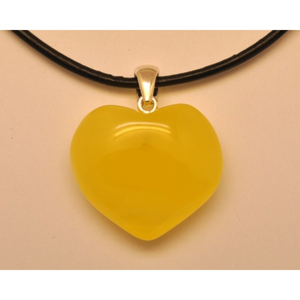 Heart shape baltic amber pendant with leather strap from online amber pendants heart shape baltic amber pendant with leather strap aloadofball Images