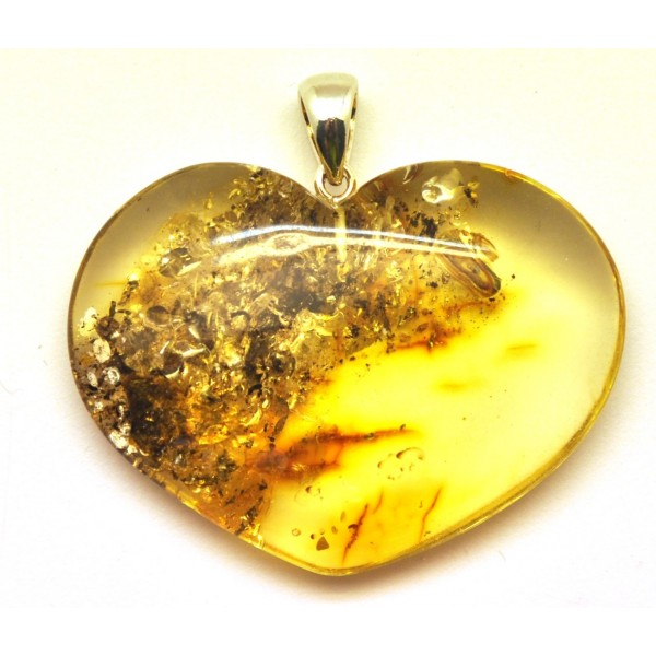 Amber pendants | Big Baltic amber heart pendant 12 g.