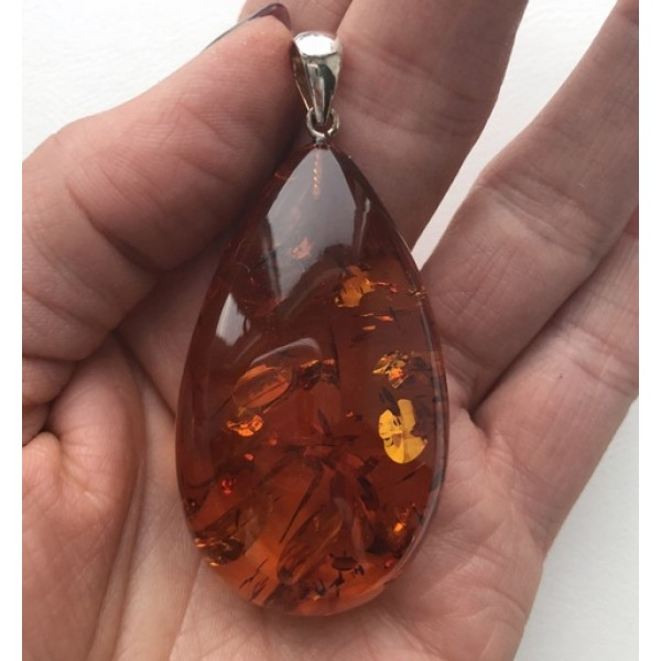 Big amber drop pendant 19 g from online baltic amber jewelry store amber pendants big amber drop pendant 19 g aloadofball Image collections